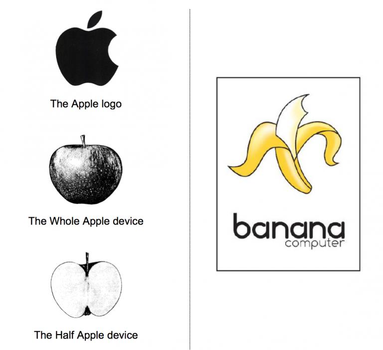 """b940ac3687 La décision de l'EUIPO, qui fait l'objet du présent billet, offre un  comparatif des marques antérieures d'Apple et de la marque """"banana  computer"""" contre ..."""